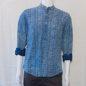 Indigo Long Sleeve Shirts | Pattern