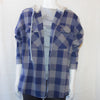 Up-cycled Vintage Plaid Shirt Hoodie | Blue