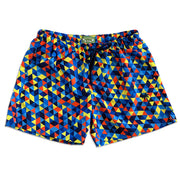 Classic Geometrical Blue Sustainable Swim Trunk