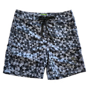 "Sustainable Surf Geometric Grey 17"" Boardshorts"