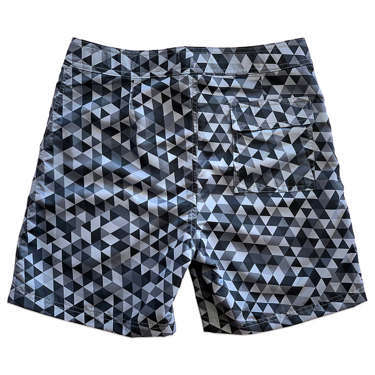 "Surf Geometric Grey Sustainable 17"" Boardshorts"