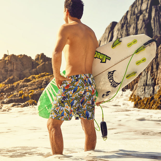 "Sustainable Surf Tropical 17"" Boardshorts Made From Recycled PET Bottles"