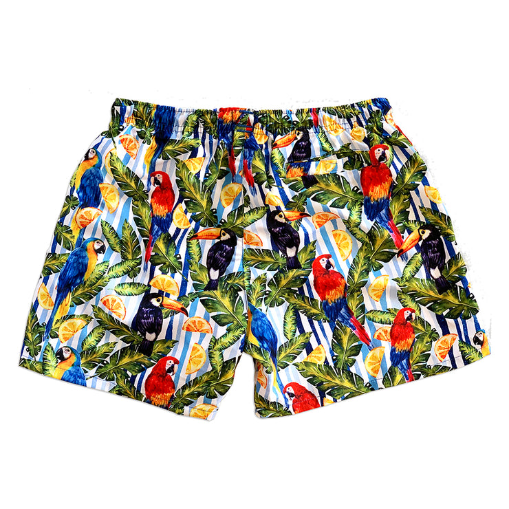 La Palma Eco-Beachwear: Classic Tropical Style Sustainable Swim Trunks