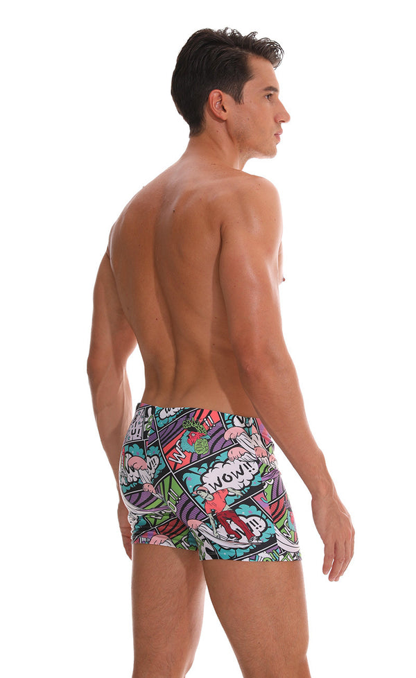 Men's Cartoon Swim Trunks