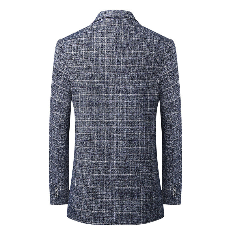 Spring Thin Business Wool Suit Jacket (75% Wool)