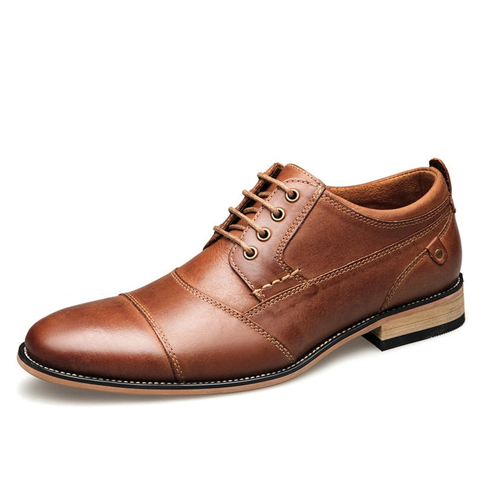 UniteMen Genuine Leather Work Oxfords