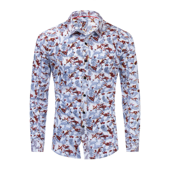 PREMIUM 100% COTTON PRINTED SHIRT #002