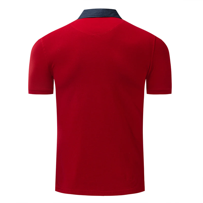 Men's Pure Color 100% Cotton Polo Shirt