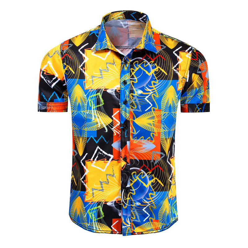 Gecman™️ Geometric Patterns Shirt (Designed By KENZO)