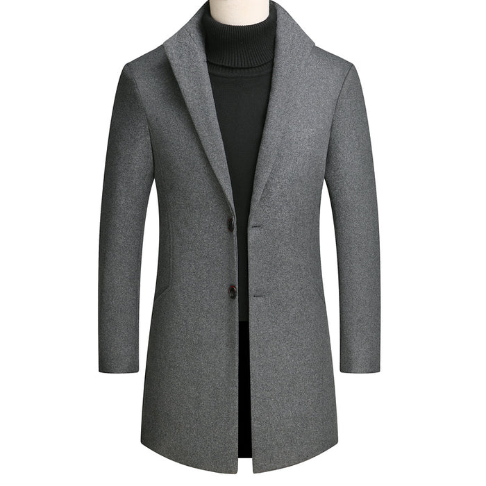UniteMen Premium Slim Wool Men's Coat