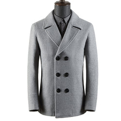GENTLEMEN BUSINESS SLIM WOOL COAT