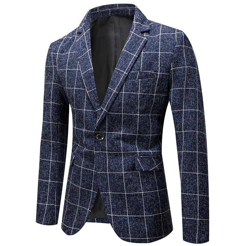 Premium Fitted Thin Plaid Blazer- 2019 New Arrival