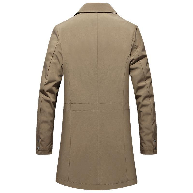 Men's Business Thin Fitted Long Jacket