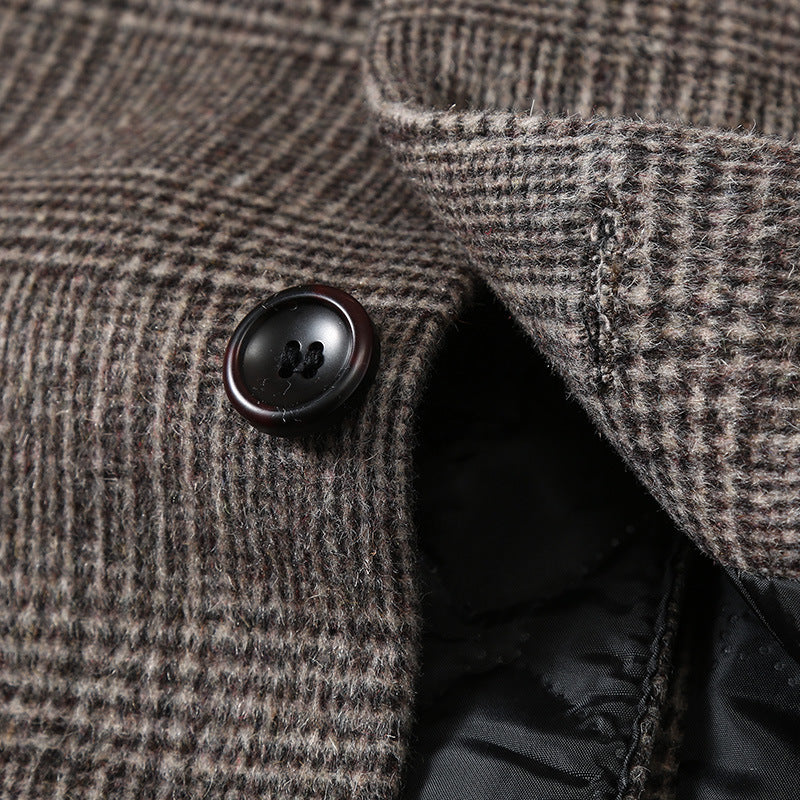 Men's Top Fitted Wool Pea Coat