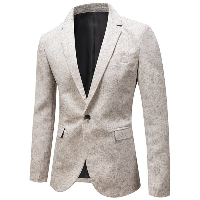 UniteMen Premium Business Fitted Men's Thin Blazer