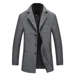 Men's Thicken Wool Coat With Scarf