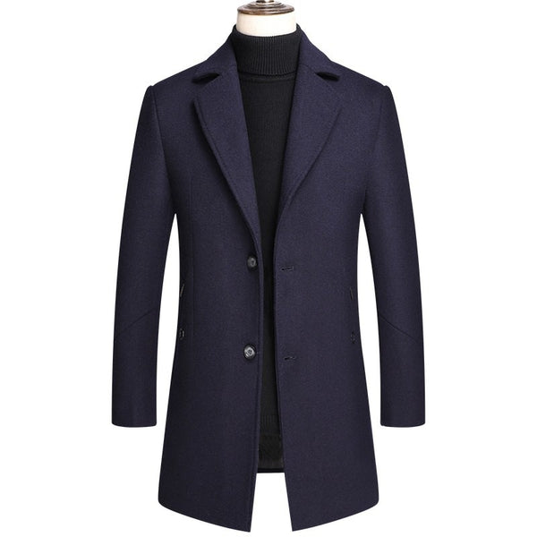 Gentleman Classic Thicken Wool Pea Coat