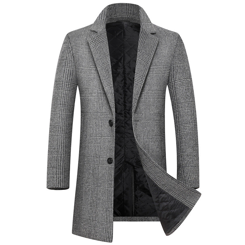 Men's Top Slim 80% Wool Coat