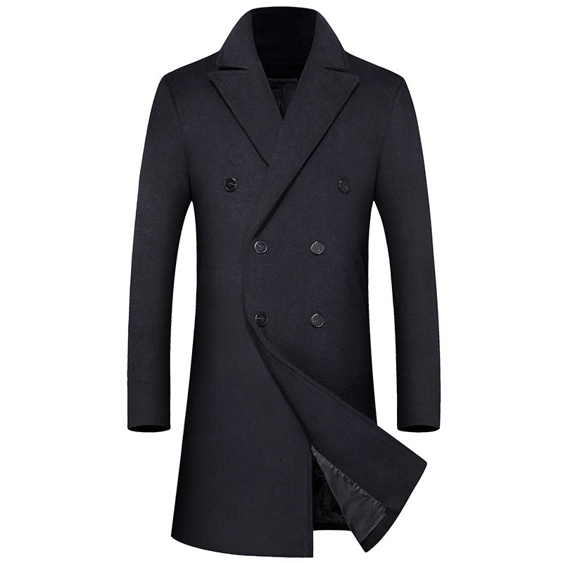 Business Thick Long Wool Coat