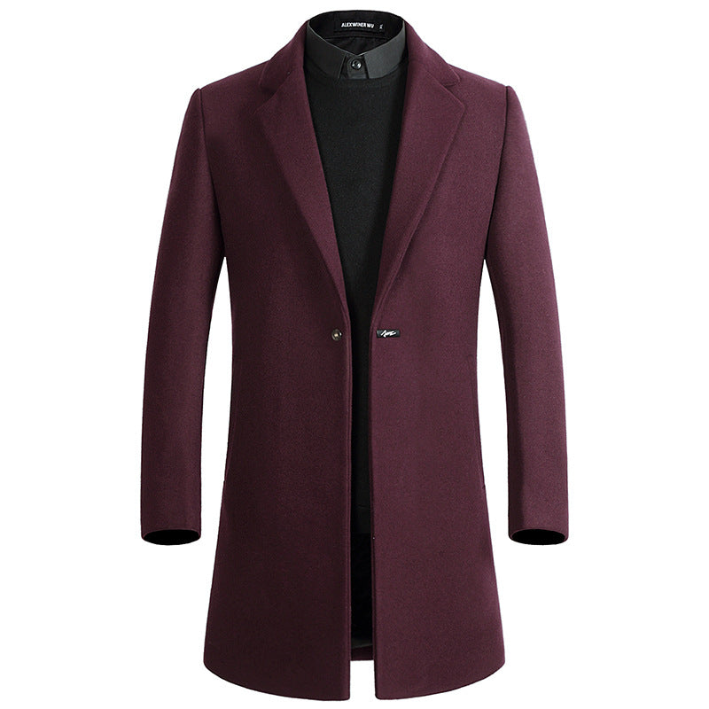 British Gentlemen Thick Wool Coat