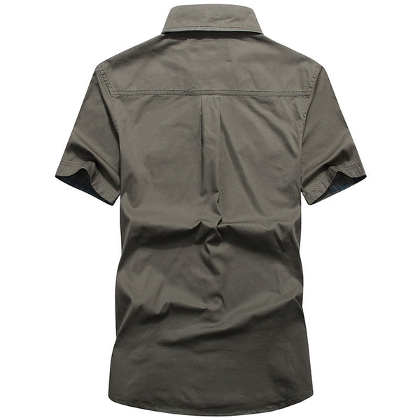Men's Summer 100% Cotton Work Shirt