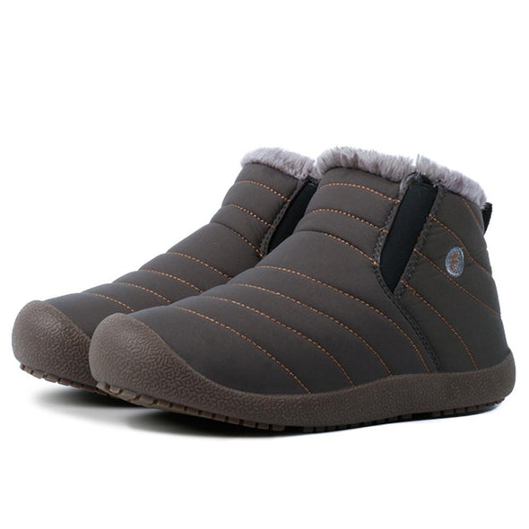 Men's Winter Snow Boots With Plush Lining