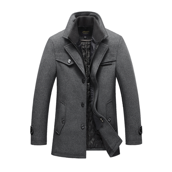Men's Gentle Layered Collar Pea Coat