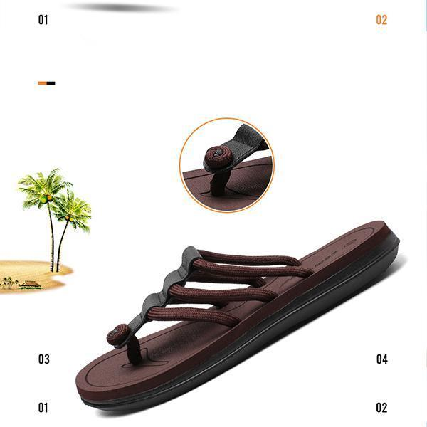 Pearlyo_Men's Comfortable Opened Toe Casual Fashion Slippers