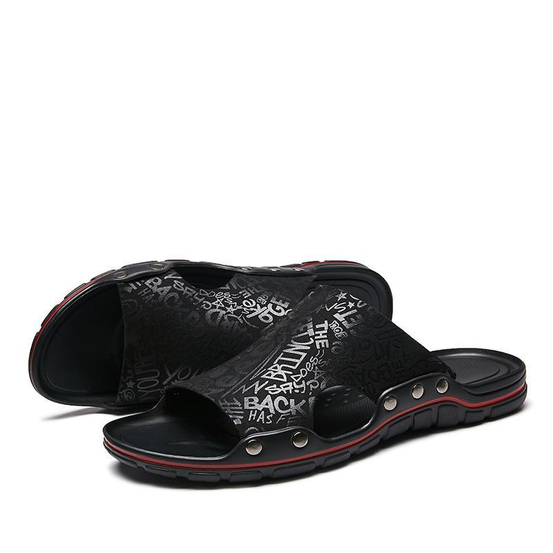 Men's casual comfortable flat breathable slippers