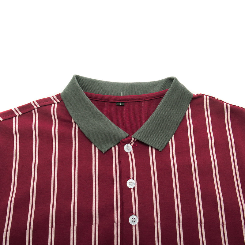 Men's Business Casual Stripe Polo Shirt