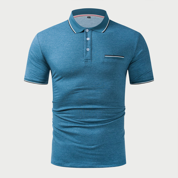 Premium Men's Business Cotton Polo Shirt