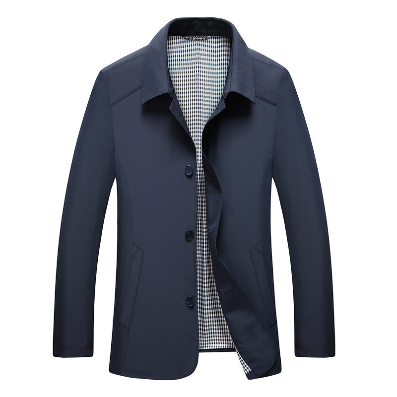 British Spring Men's Thin Fitted Jacket