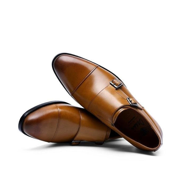 Men's Double Strap Monk Shoes
