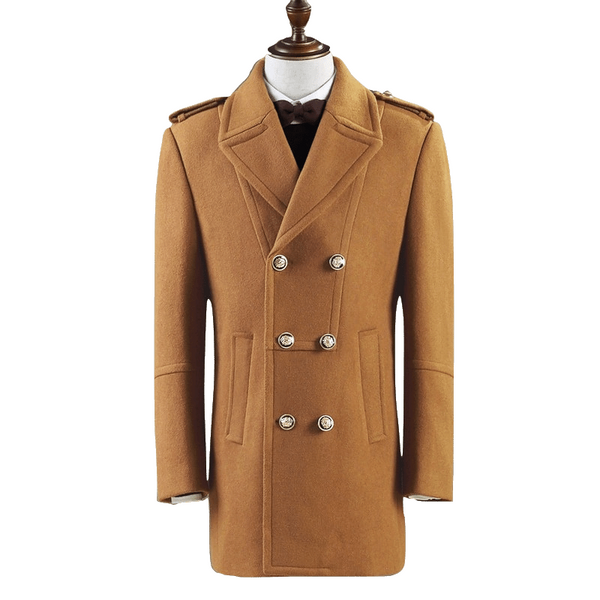 Gentlemen Double Breasted wool coat #001