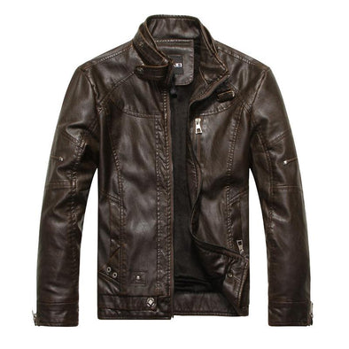 Men's Classic Thicken Leather Jacket