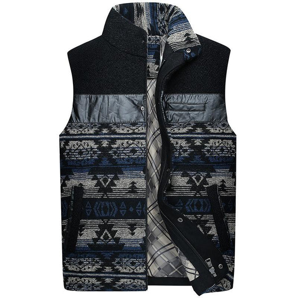 Hand-Sewn Men's 60% Wool Causal Vest