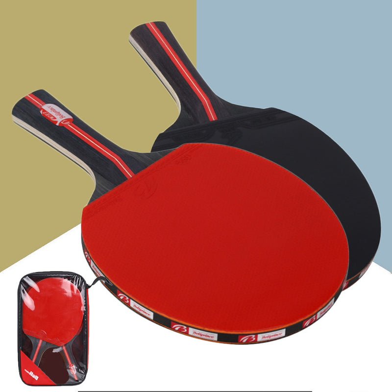 2Pcs Double Face Pimples Table Tennis Rackets With 3 Balls