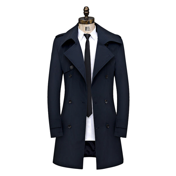 Spring Autumn Business Fitted Double-Breasted Jacket