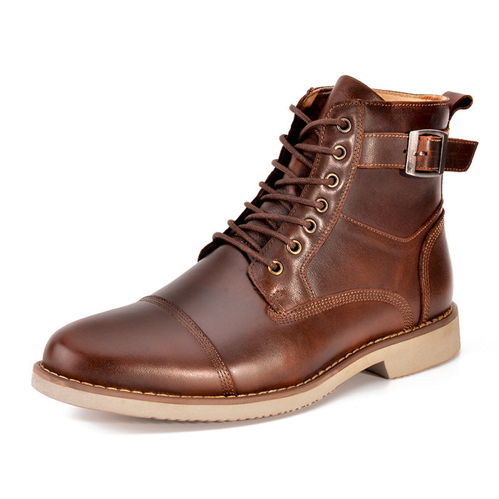 UniteMen Men's Classic Leather Martin Boots