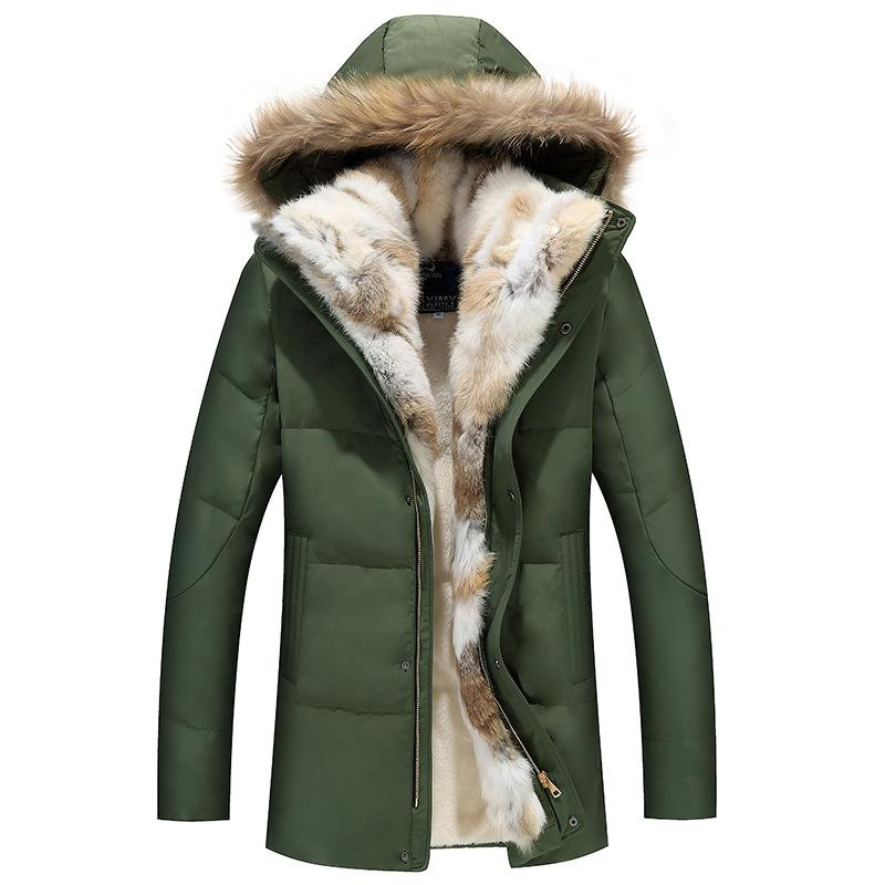 Men's Thicken Fur Down Jacket