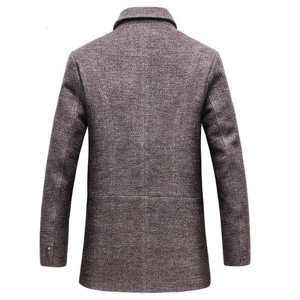 CKESE™ Men's Classic Single Breasted Slim Wool Coat