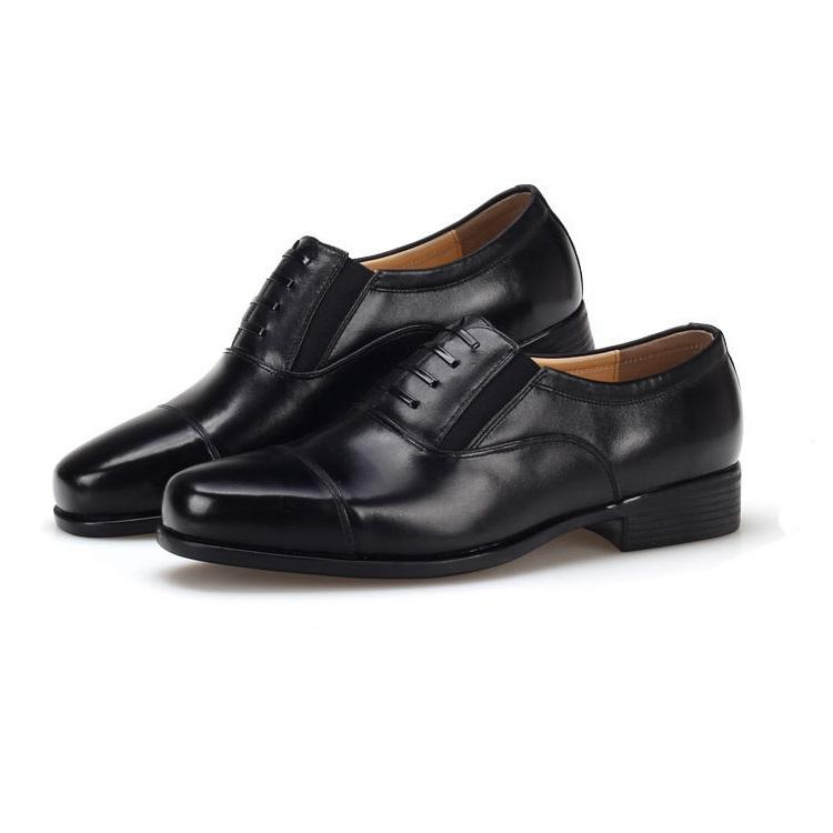 Men's Leather Loafers With Fake Lace-up