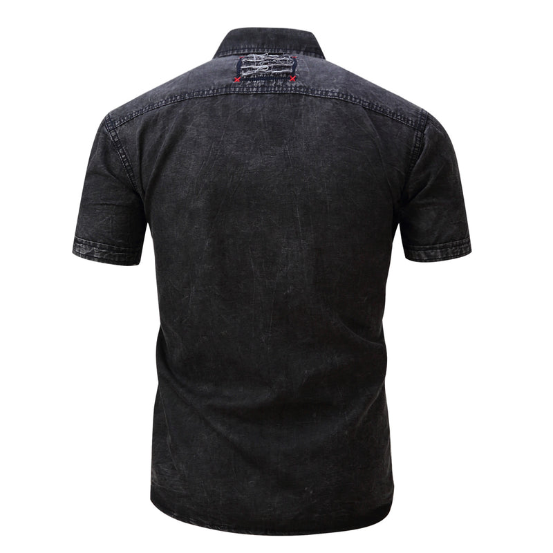 Top Men's 100% Cotton Denim Shirt