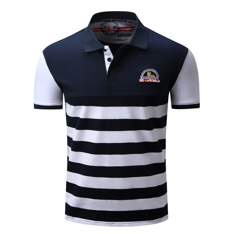 MEN'S 100% COTTON SHORT SLEEVES POLO SHIRT #002