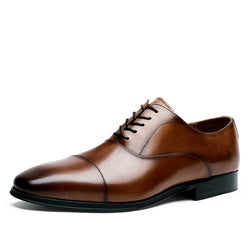 Genuine Leather Cap Toe Oxford shoes