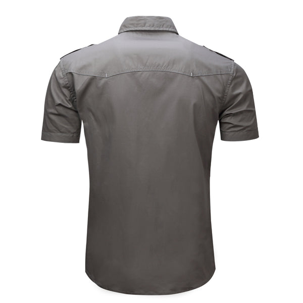 PREMIUM 100% COTTON SHORT SLEEVES WORK SHIRT #002