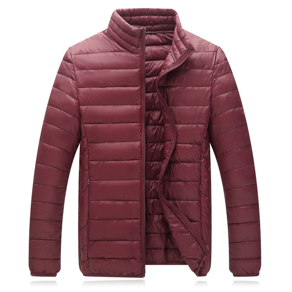 Men's Lightweight Water-Resistant Packable Down Jacket