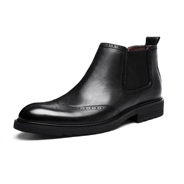 Men's Classic Brogue Chelsea Boots