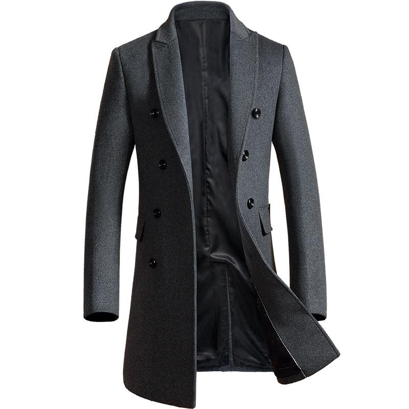 Gentlemen Slim Double Breasted Wool Coat