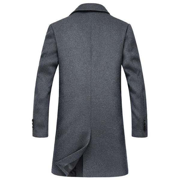 Gentlemen Double Breasted wool Pea coat #002